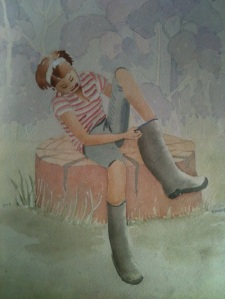 MARION SMALLER watercolour by mum barbara abbott cottam around 9 years old