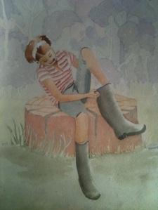 MARION SMALLER watercolour by mum barbara abbott cottam around 9 years old